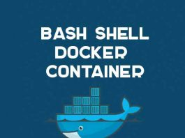 bash shell trong docker container