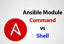 so sánh ansible module command vs shell
