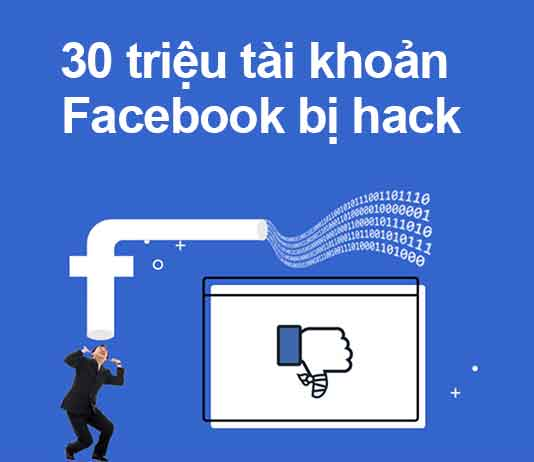 30 triệu tài khoản facebook bị hack