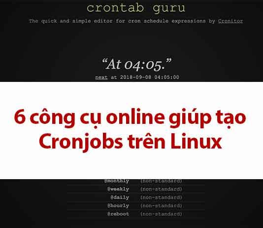 6 công cụ online gíup tạo cronjobs trên linux