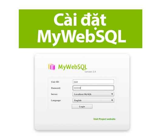 cài đặt mywebsql