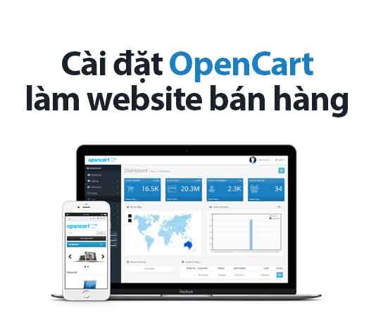cài đặt opencart làm website bán hàng online
