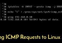 chặn ping trên linux
