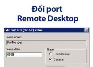đổi port remote desktop windows