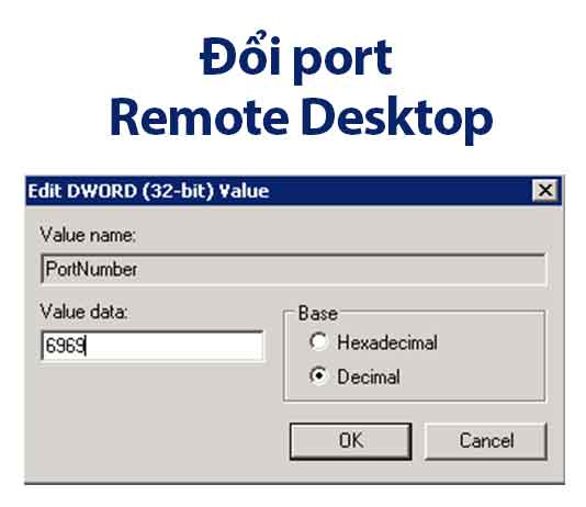 đổi port remote desktop windows