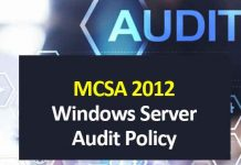mcsa 2012 windows audit policy