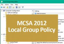 mcsa 2012 local group policy