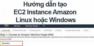 cách tạo aws ec2 instance linux hoặc windows