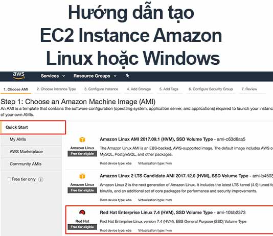 AWS] Hướng dẫn tạo EC2 Instance Amazon Linux hoặc Windows